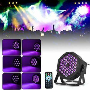 OUKANING Projecteur LED pour scène DMX RGBW Éclairage de scène avec télécommande sans fil Effet lumineux
