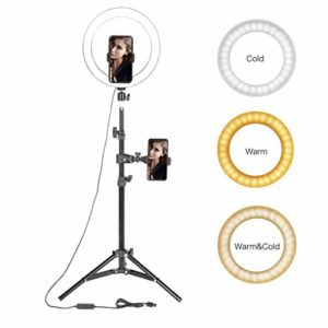 Ownlife 10″ LED Light Ring Photographique Selfie d'éclairage Bague avec Support for Smartphone Youtube Makeup Video Studio Trépied Annulaire