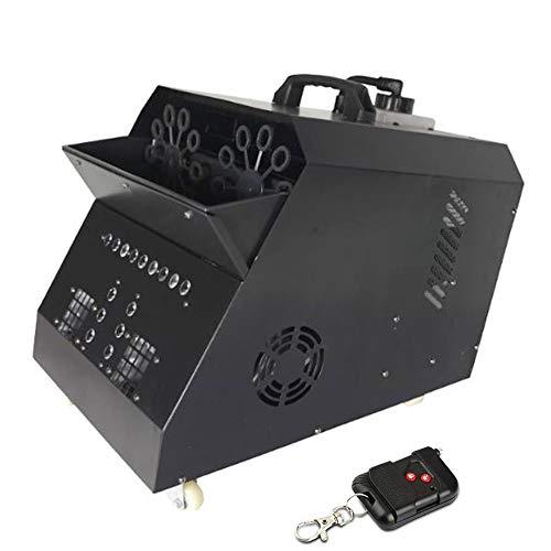 Puissant Machine de Bulle Automatique Machine Professionnelle avec Les Lumières de LED Télécommande sans Fil avec La Lampe D'effet D'étape pour Parties Mariages Disco Extérieur (Color : 2)
