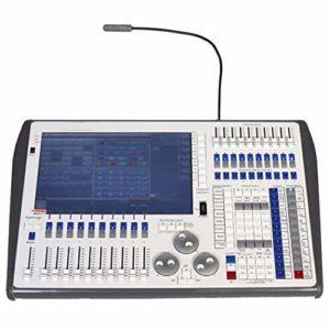QCKDQ Console Tactile DMX512 Contrôleur, 6144 Canaux, 20 Faders De Programme, 10 Touches De Fonction Macro Étape Équipement D'éclairage pour L'opérateur Concerts Party School Disco KTV