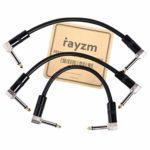 Rayzm Guitare Patch Câble,15cm Cordons Patch pour Pédales D'effet Guitare/Basse