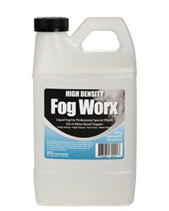 Sanco Industries Fogworx extrême Haute densité jus Brouillard – Long Lasting, Haut rendement, Machine à fumée Liquide à Base d'eau – moitié Gallon, 64 oz Gallon Demi-HD