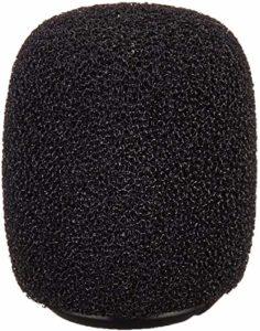 Shure RK183WS Pare-brise en mousse pour MX183 MX184 MX185 Beta 98 WL183 WL184 & WL185 (4) Noir