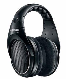 Shure SRH1440 Casque Audio Pro Ouvert, son naturel avec image stéréo très large et réponse en fréquence optimisée, câble amovible, oreillettes en velour, noir