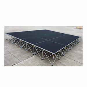 Simply Sound Plateforme élévatrice de scène 6 x 6 m et pieds de 40 cm de hauteur