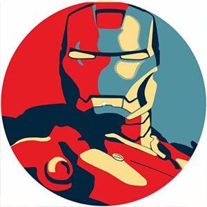 Slipmat Tapis de protection en feutre pour platine vinyle LP DJ 30,5 cm Motif Iron Man