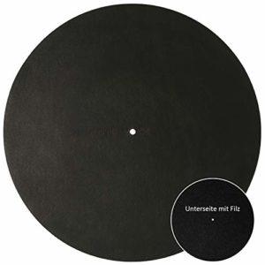Sonicvoice Plateau en cuir véritable marron aniline avec feutre combiné pour une expérience sonore parfaite. One size Noir