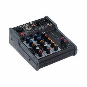 Soundsation MIOMIX 104 Mixeur audio passif 5 canaux avec effet Eco Numérique