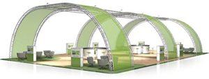 Stand de Foire FD 33-21 x 13 x 5 m (LxHxH) – 273 m²