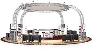 Stand de Foire FD 34-8,29 x 8,29 x 4 m (LxHxH) – 69 m²
