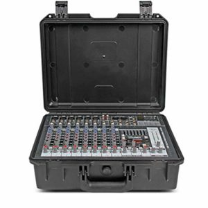 Studio Mixer Audio Console de Plein air intégrée avec Console Portable amplifiée Portable 10 canaux et amplificateur 300W X 2 (Color : C1, Size : 380x285x145MM)