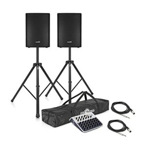 SubZero Systeme de Sonorisation Actif avec Pieds et Table de Mixage 700 W 12″