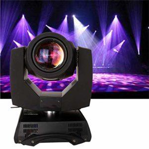 Yonntech DMX512 230W Led Eclairage de scene Lumières de la scène professionnel 8 prisme / 16 prisme Jeux de Lumiere 14 Couleurs Lampe de Scène Contrôle Automatique Lampe Disco (16 prisme)