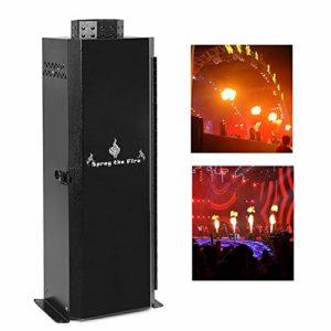 200W Mini machine à flamme Convient pour les bars, mariages, grands spectacles,DMX-512 télécommande Petite machine à étincelles,Scène effets spéciaux machine à étincelle,Black