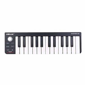 ABMBERTK 25 Clavier Portable, Mini contrôleur MIDI USB 25 Touches, contrôleur de Clavier MIDI, comme Le Montre