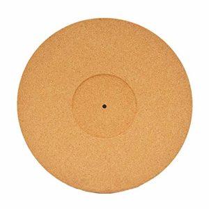 Almabner Tapis de platine en liège pratique pour les lecteurs de disques à réduire le bruit de la platine en liège, Pas de zéro, comme sur l'image, as shown