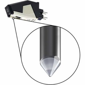 Audio Technica AT85EP Replacement Cartridge P-mount Elliptical Stylus (Black/White)