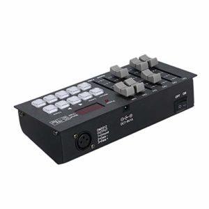 Bedler DC7-9V 0.2W Mini DMX512 Console Contrôleur de Lumière de Scène Intégré 2000mAh Haute Capacité Batterie Rechargeable Portable pour Soirée Concert DJ Show Bar Club Pub
