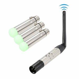 Bedler DMX512 4 PCS Émetteur Récepteur Kit Portable 2.4G ISM sans Fil pour la Fête DJ Show Club Disco KTV Stade Éclairage Luminaire
