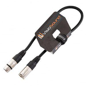 Câble Micro XLR mâle à femelle/Équilibré/Câble patch micro / 7 couleurs 0.5m Noir