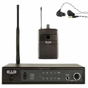 CAD Audio StageSelectIEM Système de moniteur audio intra-auriculaire Système de surveillance UHF avec oreillette sans fil noir