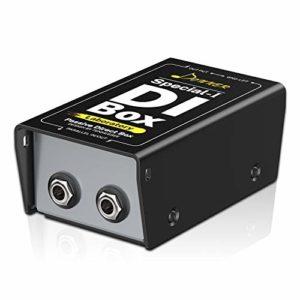 Donner DI Box Passive Boîte de Direct Passive Prises de 1/4″ avec Fonction Ground Lift