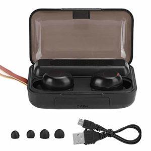 Écouteurs sans fil Écouteurs Bluetooth Écouteurs sans fil dans l'oreille Écouteurs sans fil Écouteurs à affichage numérique 5.0 Affichage de l'alimentation à LED Casque binaural Écouteurs(noir)