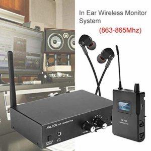 Elikliv Anleon S2 sans Fil In-Ear Moniteur Système Uhf Stéréo Iem Scène Monitoring 863-865MhzStudio Sur Scène Monitoring 6 Sélectionnable Chaines