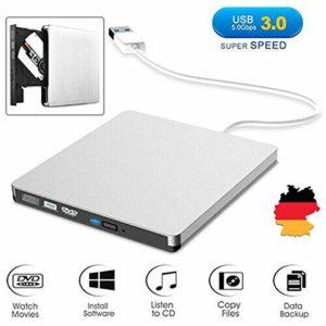 Externe Blu-Ray Lecteur DVD, USB 3.0 DVD RW CD Graveur Lecteur, adapté aux Ordinateurs Portables, PDA