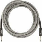 Fender 099-0820-066 Câble d'instrument série professionnelle – 15 pi – STR/STR – Tweed blanc