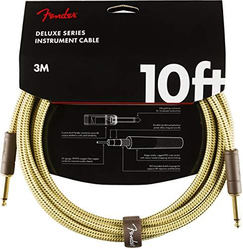 Fender Deluxe Series Câble Instrument – 3 m – Droit/Droit – Tweed