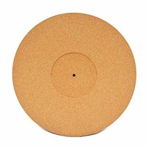 Fransande Tapis antidérapant en liège pour disque vinyle 30,5 cm