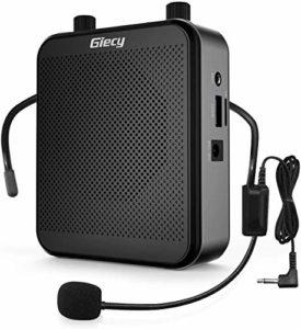 Giecy Amplificateur voix portable avec microphone casque 30W Batterie rechargeable 2800mAh Système de sonorisation amplificateur de voix puissant pour enseignants, guides, entraîneurs, présentateurs