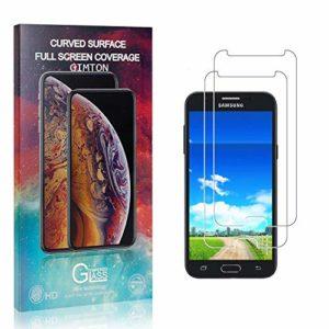 GIMTON Verre Trempé pour Galaxy J3 Prime, Anti Rayures Protection en Verre Trempé Écran pour Samsung Galaxy J3 Prime, Dureté 9H, sans Bulles, 3D Touch, 2 Pièces