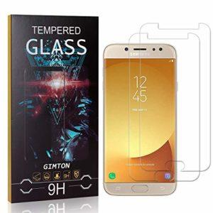 GIMTON Verre Trempé pour Galaxy J5 2017, 3D Touch Ultra Résistant Protection en Verre Trempé Écran pour Samsung Galaxy J5 2017, sans Traces de Doigts, 2 Pièces