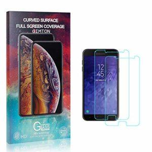 GIMTON Verre Trempé pour Galaxy J7 Duo, Anti Rayures Protection en Verre Trempé Écran pour Samsung Galaxy J7 Duo, Dureté 9H, sans Bulles, 3D Touch, 2 Pièces