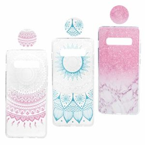 Idlehour Lot de 3 coques de protection en silicone TPU ultra fin pour Samsung Galaxy Samsung Galaxy S10 Plus SET 3