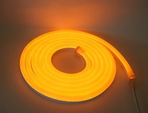 LED Neon Flex LED bande homogène Éclairage LED 240V Jaune 48,8mm. M rôle