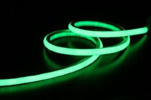 LED Neon Flex LED bande homogène Éclairage LED 240V Vert 48,8mm. M rôle