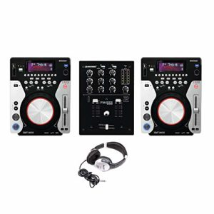 Omnitronic XMT-1400 & PM-222 Pack lecteur CD CDJ USB MP3 DJ Disco Configuration