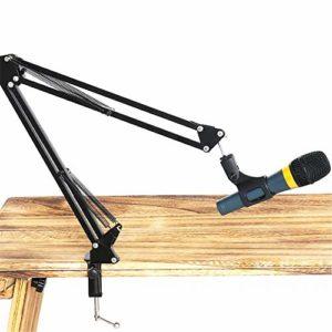 Peng sounded Pied de Micro Jouer de la Guitare Singing Enregistrement Solo Bureau Gimbal Cantilever Métal Pied de Micro Pied de Microphone pour la radiodiffusion (Color : Black, Size : 80CM)