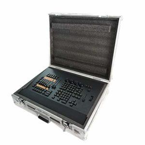 QCKDQ Contrôleur DMX, 2 Faders De Commutation A/B, Le Bouton Mute Dimmable Étape Équipement D'éclairage Opérateur pour Le Programme D'édition De L'étape D'éclairage Marchepied