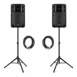 RCF ART315-A (MK4) Active Haut-parleur 15 pouces 1600 W PA System Bundle DJ Disco