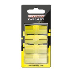 Reloop Knob Cap Set yellow – 8 Knob Caps, revêtement en caoutchouc pour une meilleure prise en main, compatible avec de nombreux mixeurs et contrôleurs pour DJ, jaune