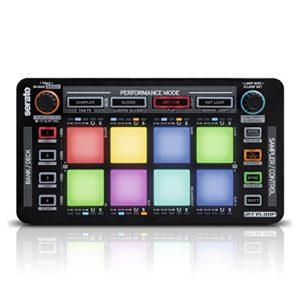 Reloop Neon – Contrôleur DJ USB supplémentaire avec pads de batterie de performance RVB sensibles à la vitesse, plug and play avec Serato DJ, (noir)