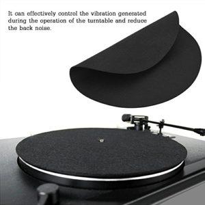 Rodipu Accessoires antistatiques pour disques Vinyle Slipmat Mat Pad Vinyl pour disques vinyles