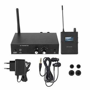 Système de Moniteur sans Fil Système de Moniteur Audio stéréo Intra-auriculaire sans Fil 863-865MHZ 100-240V(Prise UE)