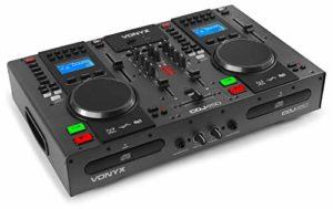 Vonyx CDJ450 – Double lecteur CD/MP3/USB/Mixeur avec Bluetooth • 2 canaux • Fonctionnalité Auto-Cue • Molettes intégrées • Sorties Master et Record • Parfait pour DJ amateurs ou professionnels