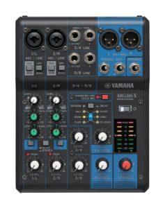 Yamaha MG06X 6channels Noir table de mixage audio – tables de mixage audio (6 canaux, -88 dB, 6,3 mm, 12 W, 149 mm, 202 mm)