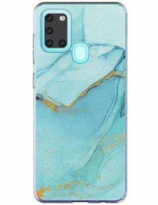 yiyiter A21S Étui pour Samsung Galaxy A21S Coque Soft Silicone Housse TPU Bumper Protecteur Antichoc Cover Marble Design pour Samsung A21S Back Case Protection